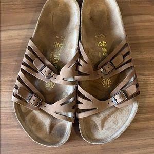 "Birkenstock ""Granada"" birkibuc sandals size 11 /42"